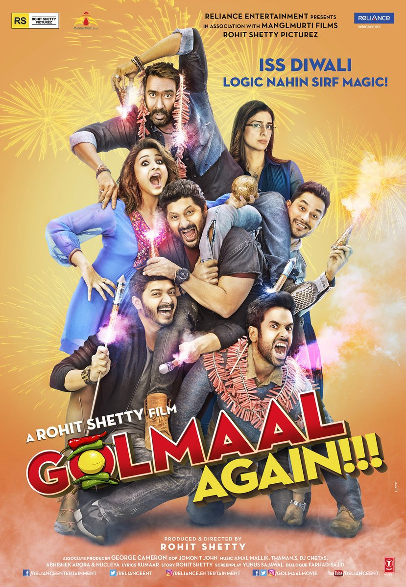 Golmaal Again Posters: The Cast Is Back To Spread Their Magic Once Again!