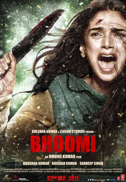 Check Out Aditi Rso Hydari's Fierce Avatar In This 3rd Bhoomi Poster