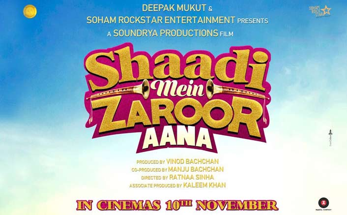 Check Out The Quirky First Poster Of Shaadi Mein Zaroor Aana