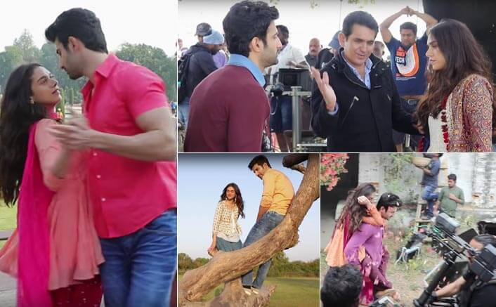 Catch A Glimpse Of Bhoomi Stars Getting Soaked In Romance While Shooting For The Lag Ja Gale Song
