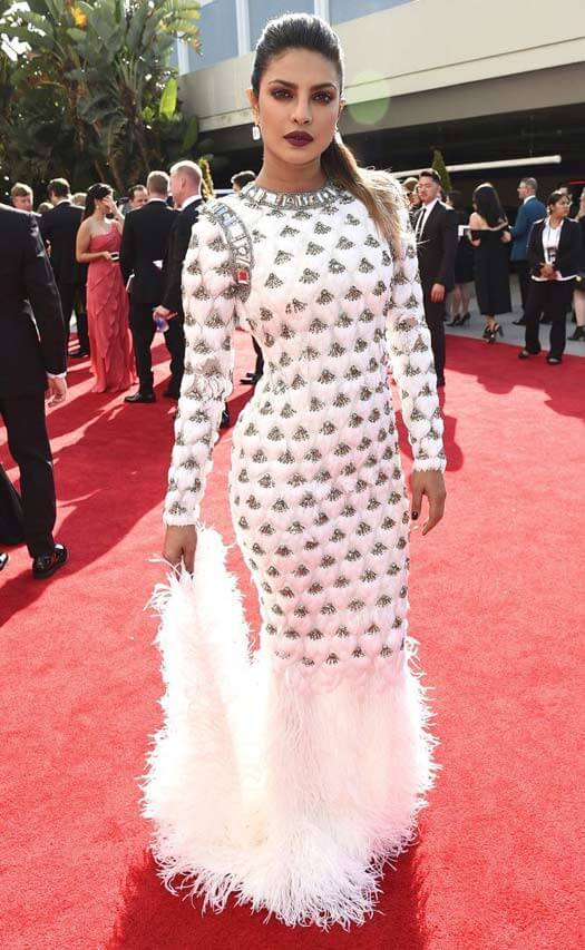 Priyanka Chopra Makes A Drool-Worthy Red Carpet Appearance At The 69th Emmy Awards