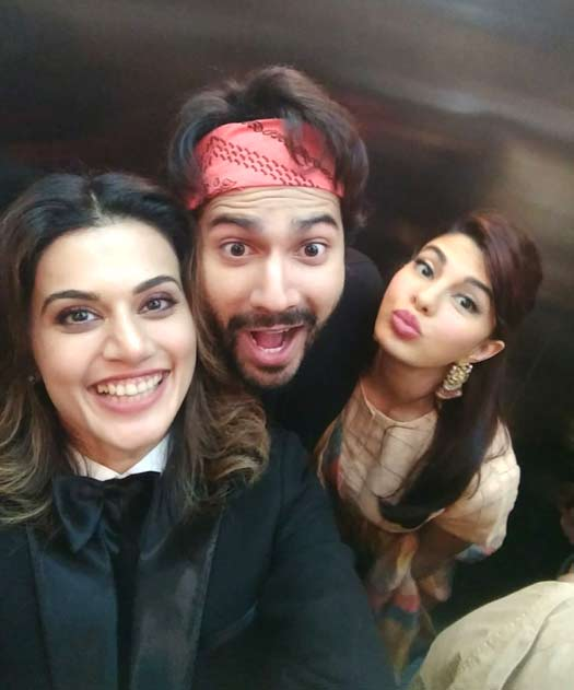 Varun Dhawan, Jacqueline Fernandez, Taapsee Pannu have a gala time as they promote Judwaa 2 in Kolkata!