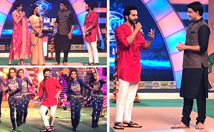 Varun Dhawan promotes Judwaa 2 with Sourav Ganguly in Kolkatta