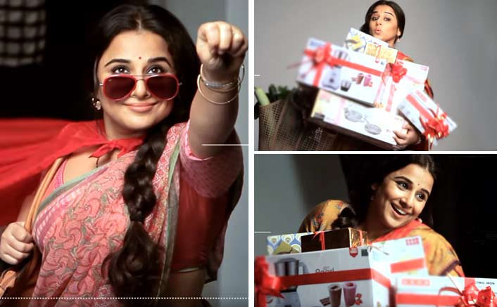 vidya balan is all fun games in tumhari sulu poster making