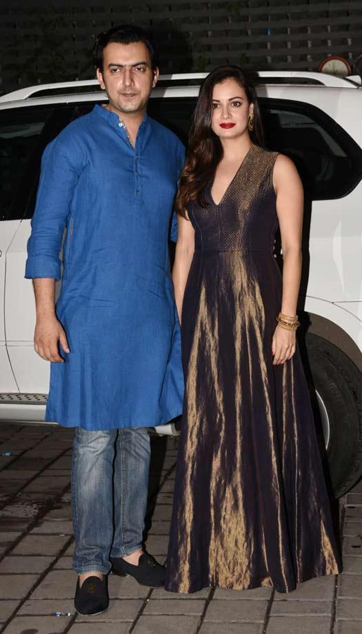 Bollywood Celebrities Dazzle At Arpita Khan's Diwali Party