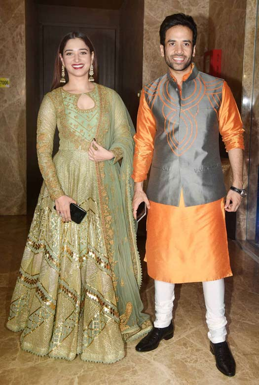 Tamannaah Bhatia and Tusshar Kapoor At Ramesh Taurani's Diwali Party