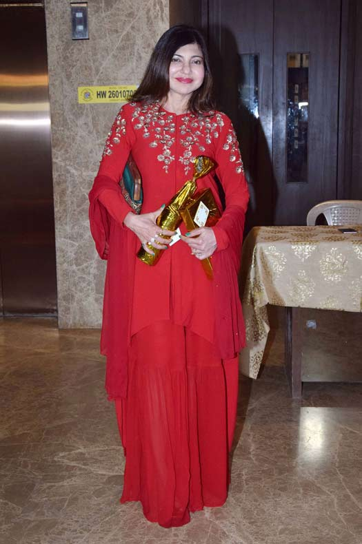 Alka Yagnik At Ramesh Taurani's Diwali Party