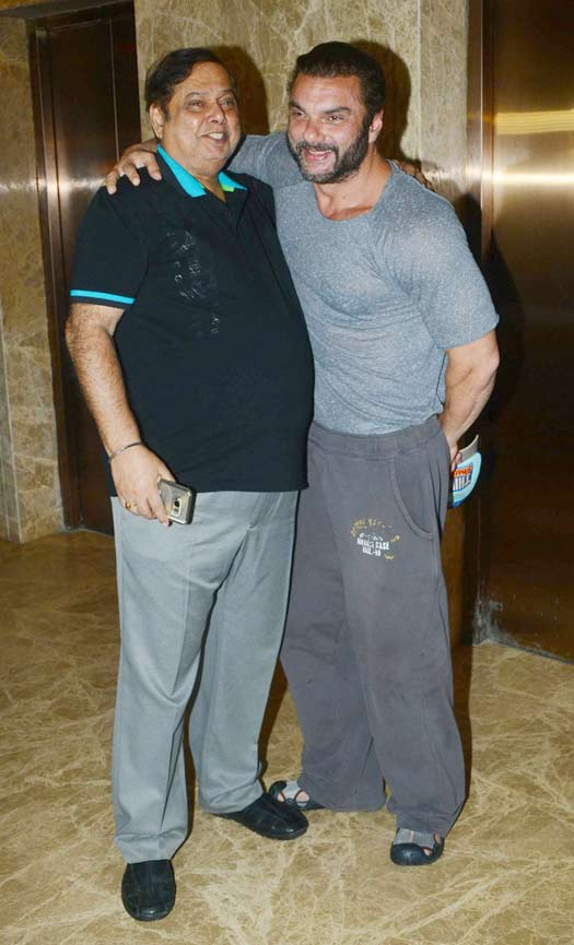 David Dhawan and Sohail Khan At Ramesh Taurani's Diwali Party