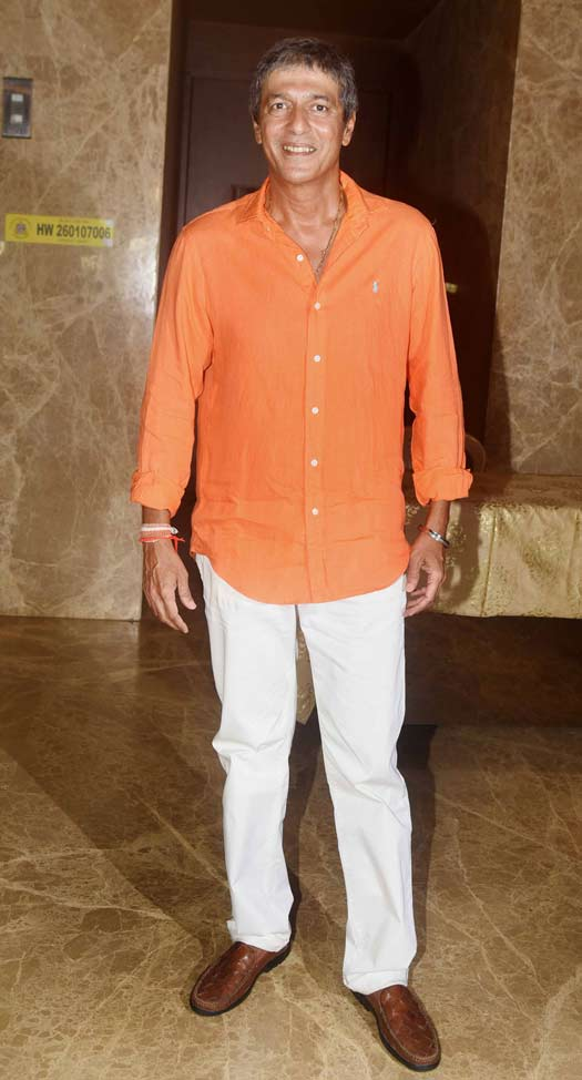 Chunky Pandey At Ramesh Taurani's Diwali Party