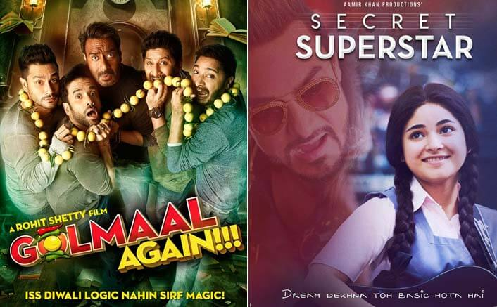 Box Office Predictions - Ajay Devgn's Golmaal Again and Aamir Khan's Secret Superstar