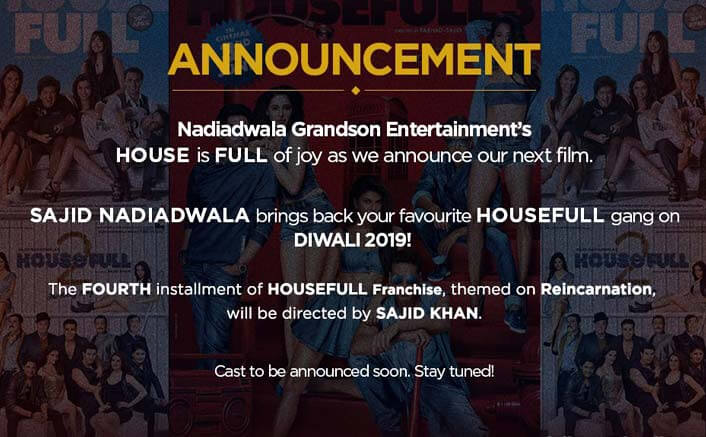 Housefull 4 To Release On Diwali 2019