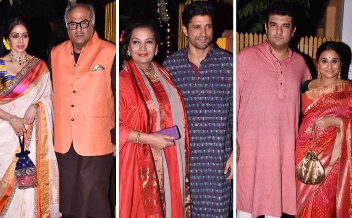 Shabana Azmi And Javed Akhtar's Diwali Bash Looked Star-Studded