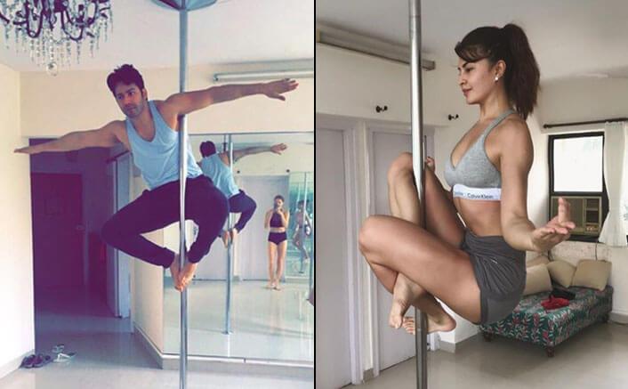 Jacqueline Fernandez, Varun Dhawan poses as yogi on Instagram
