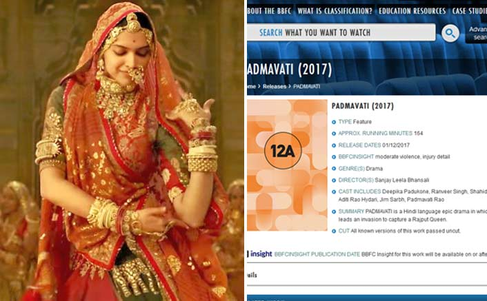 Padmavati Gets A Green Signal From British Board Of Film Classification, Will Release On Dec 1 In UK