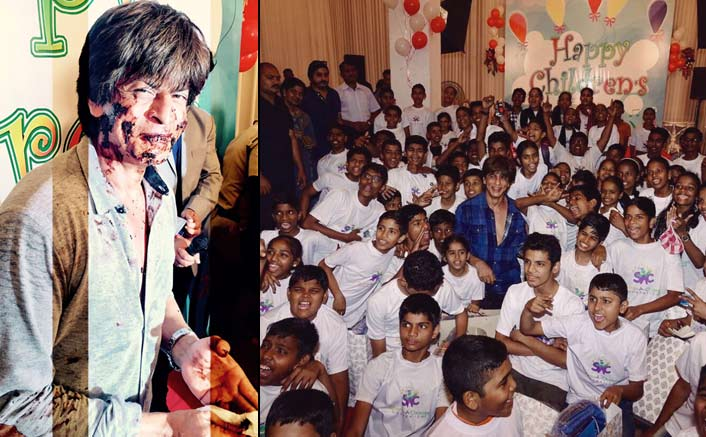 Shah Rukh Khan celebrates Children's Day on the set!