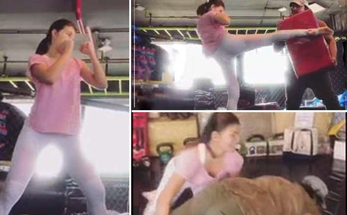 Watch Jacqueline Fernandez' kick-ass MMA routine