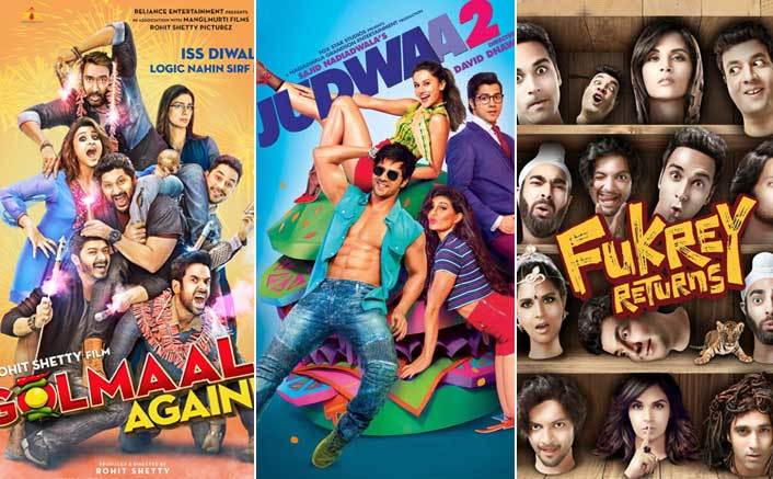 2017 round up - Golmaal Again, Judwaa 2 and Fukrey Returns success show that comedy sequels/franchises could be the future from 2018 to 2010