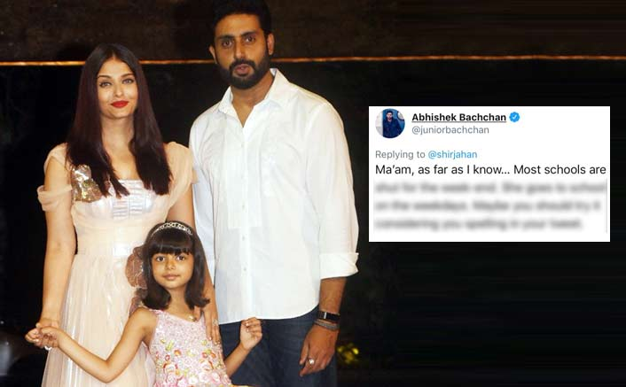 Abhishek Bachchan Has A Befitting Reply To A Troller Who Targeted Aaradhya Bachchan