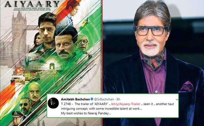 Aiyaary trailer intrigues megastar Amitabh Bachchan