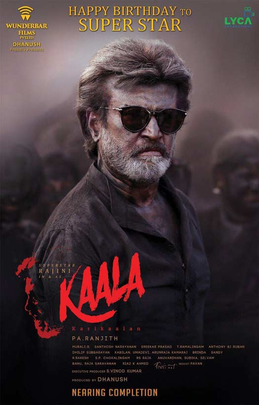 The Second Poster Of Kaala Released On The Eve Of Rajnikanth's 67th Birthday