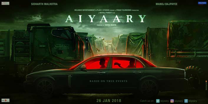 First Look Of Sidharth Malhotra, Manoj Bajpayee's Aiyaary To Be Unveiled On Vijay Divas