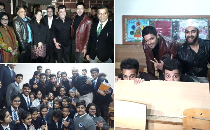 Varun Sharma and Fukrey Returns team go back to school while promoting Fukrey Returns
