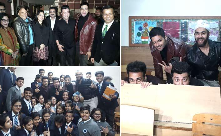Varun Sharma and Fukrey Returns team go back to school while promoting Fukrey Returns