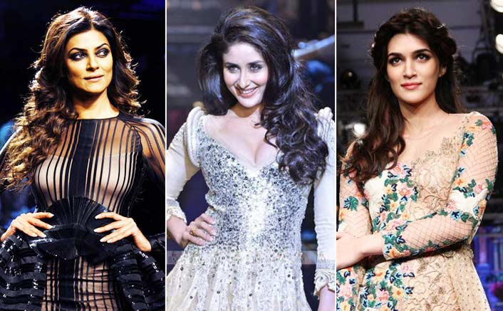 Kareena Kapoor Khan, Sushmita Sen and Kriti Sanon