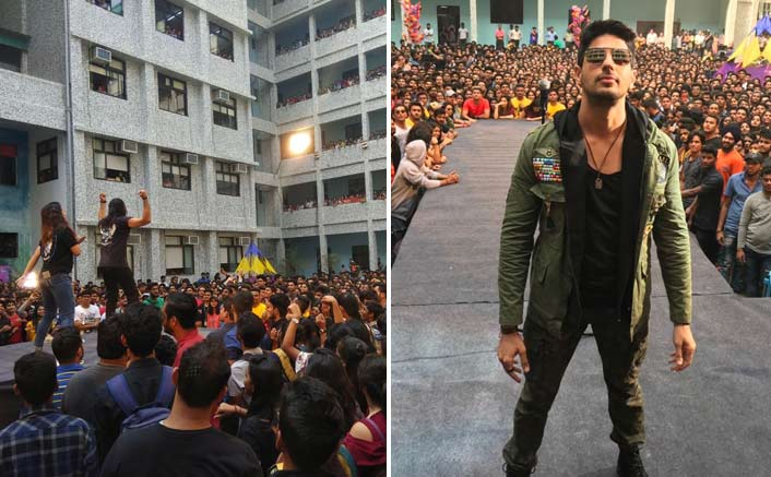 Sidharth Malhotra and Rakul Preet shot a promotional song amidst college students