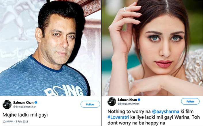 Salman Khan Launches Newcomer Warina Opposite Ayush Sharma In Loveratri