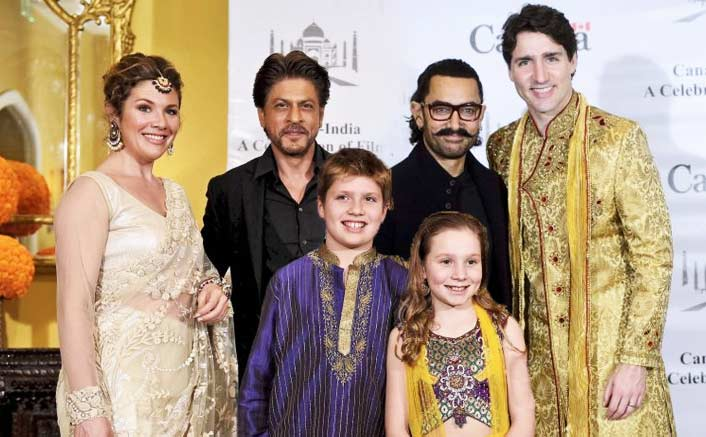 Shah Rukh Khan, Aamir Khan & Other B-Town Celebs Host Canadian PM Justin Trudeau & Family