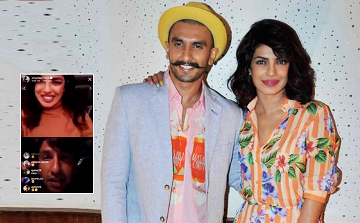 Ranveer Singh Joins Priyanka Chopra's Instagram Live; Peecee Reveals About Her Next Bollywood Film! Video Inside