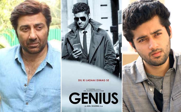 Sunny Deol introduces reel life son, Utkarsh Sharma for Anil Sharma's Genius