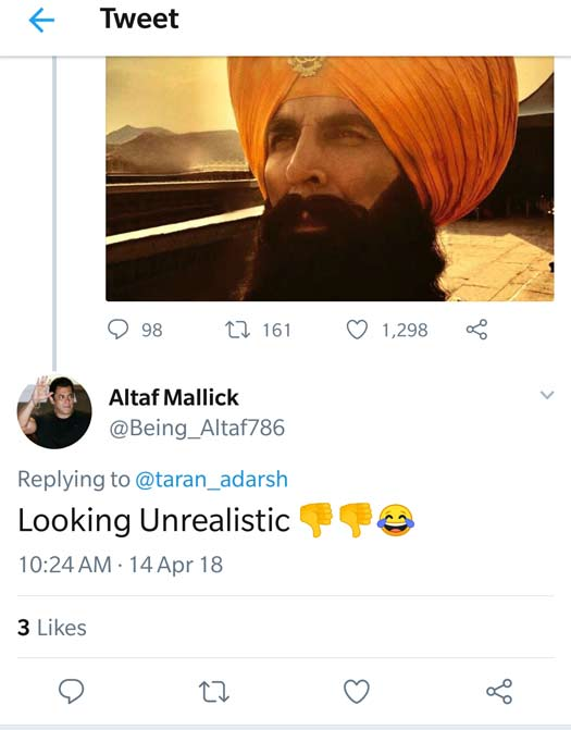 Akshay Kumar's New Pic From Kesari; Twitterati Troll For Fake Beard! WOAH Or NO?