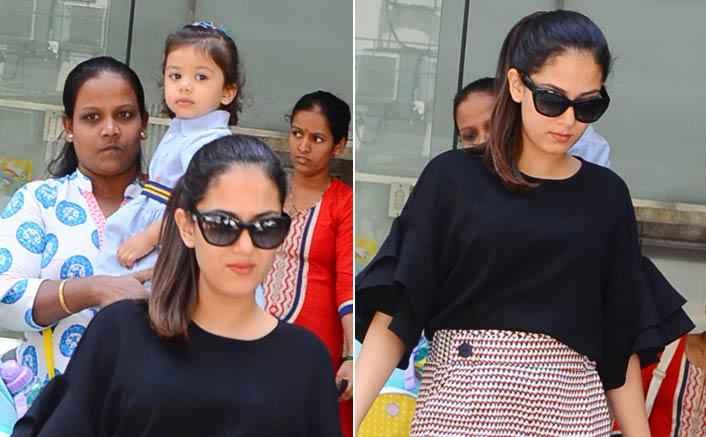 Mira And Misha Spotted At Play School In Bandra