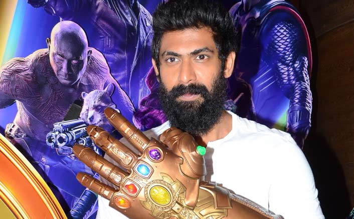 Rana Daggubati shows off Infinity Gauntlet as Thanos!!