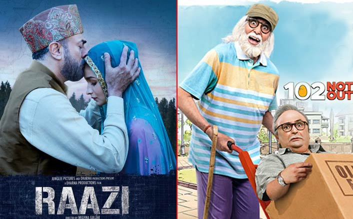 Box office:Raazi is exceptional, 102 not out is sinking