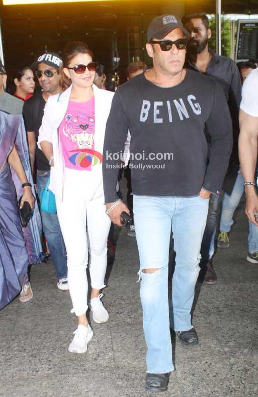 Celeb Spotting: Salman Khan, Jacqueline Fernandez