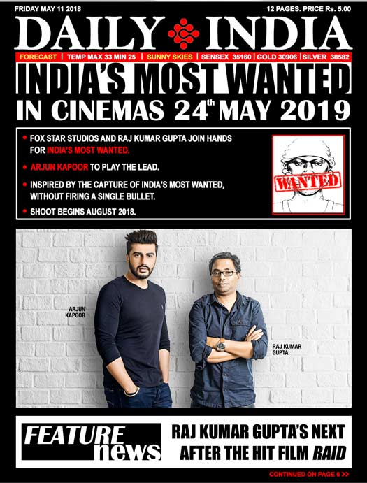 Fox Star Studios and RajKumar Gupta join hands for India's Most Wanted