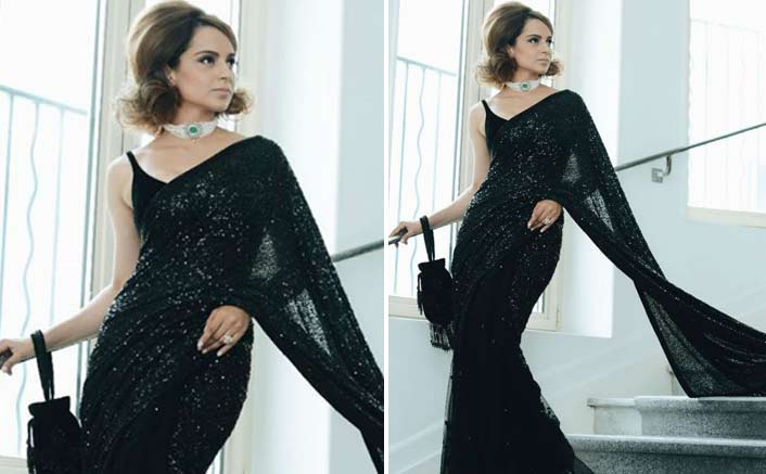 Kangana Ranaut exudes old world charm in sari at Cannes