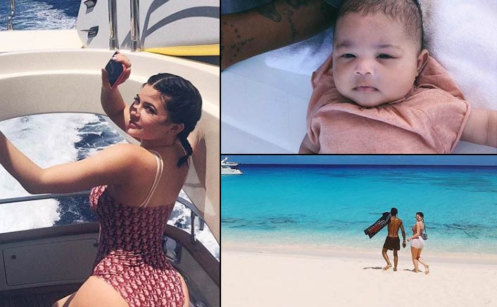 Kylie Jenner shows off her post pregnancy beach body
