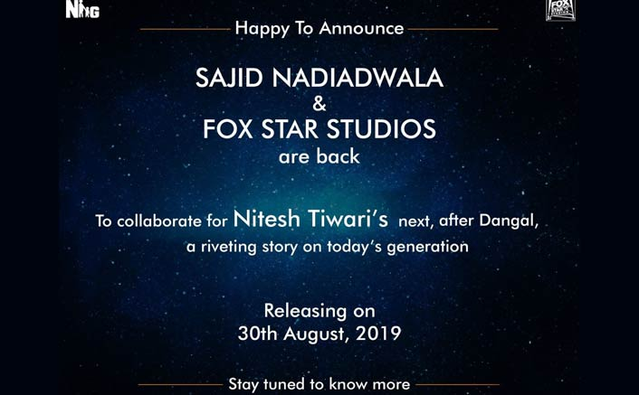 Sajid Nadiadwala and Fox Star Studio collaborate for Nitesh Tiwari's next after Dangal