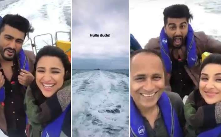 Arjun Kapoor, Parineeti Chopra, and Vipul Amrutlal Shah have a fun ride on the sets of Namaste England