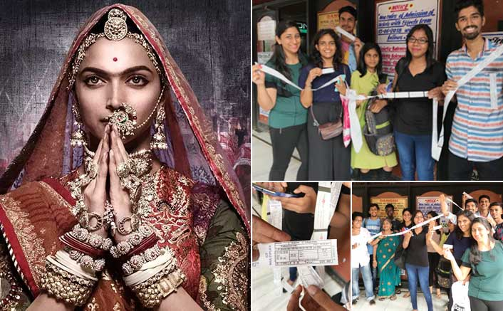 Deepika Padukone fans crowd a theater in Mumbai to watch Padmaavat!