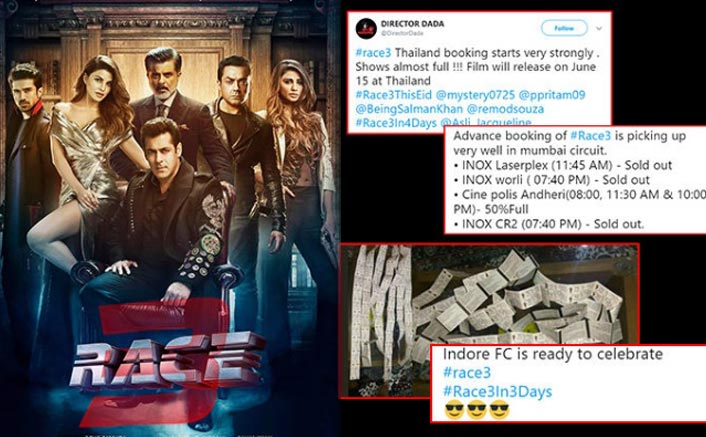 Houseful shows of 'Race 3' prove that Salman Khan fans can't wait to watch this one!