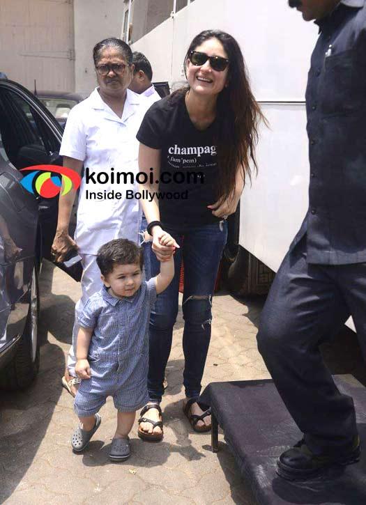 Kareena Kapoor Khan with Taimur Ali Khan
