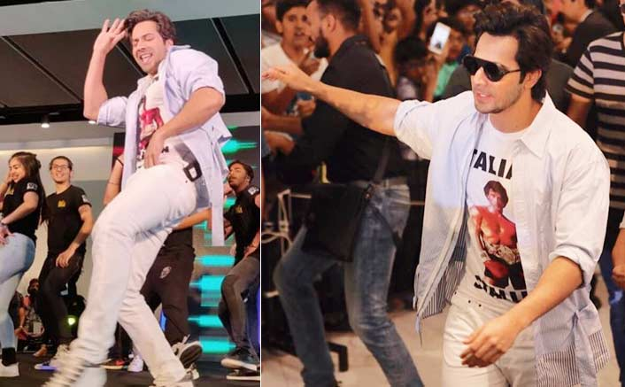 Varun dances with fans on Hindi numbers in Bangkok mall
