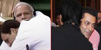 Rahul Gandhi Hugs Narendra Modi; Salman Khan Hugs Shah Rukh Khan & More Infamous Hugs Bollywood!