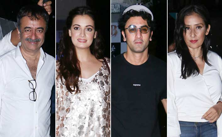 Ranbir, Rajkumar Hirani attend 'Sanju' success party