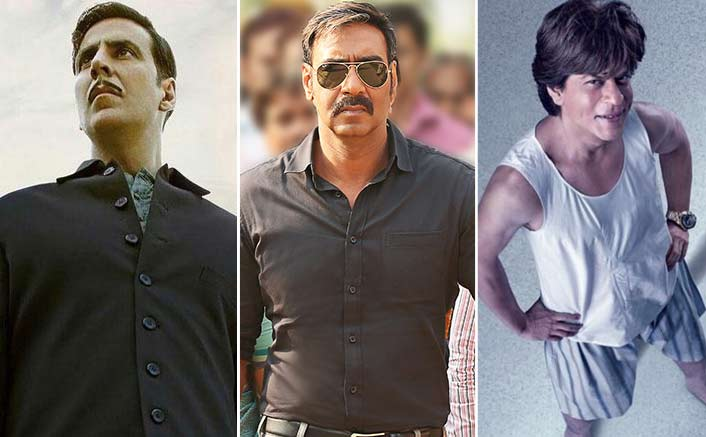Akshay Kumar, Ajay Devgn and Shah Rukh Khan engage in battle of 100 Crore Club scorers